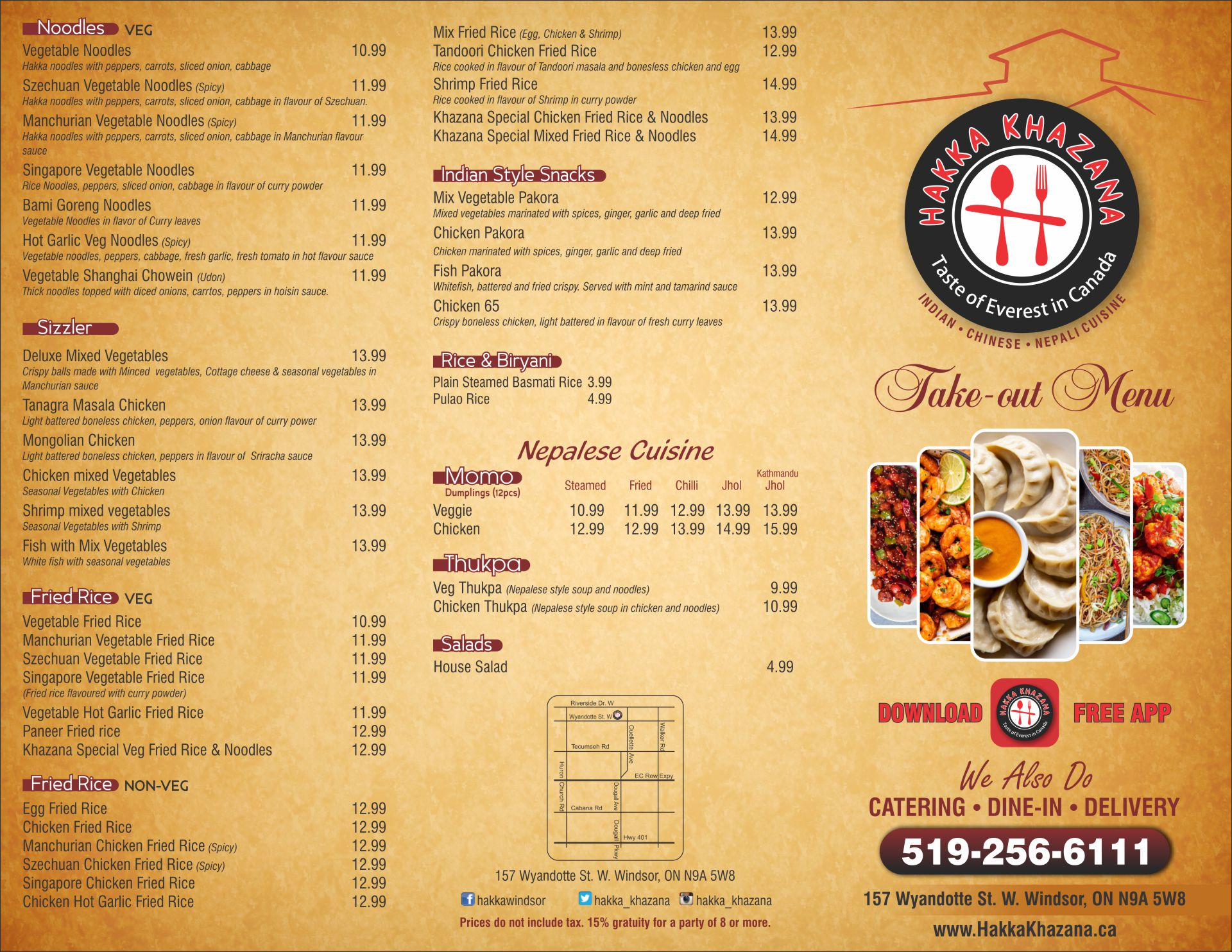 Windsor Hakka Khazana Menu 01