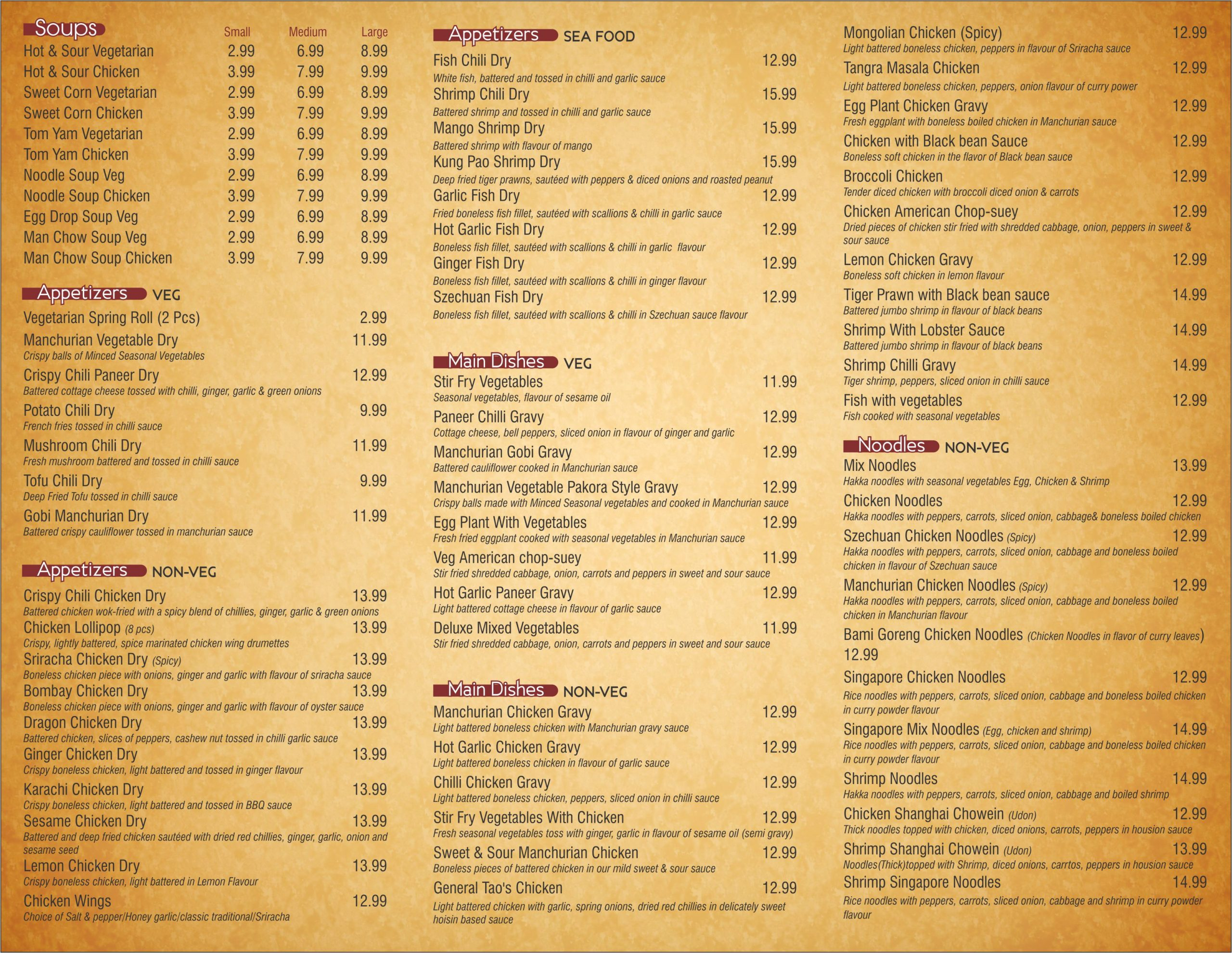 Windsor Hakka Khazana Menu 02